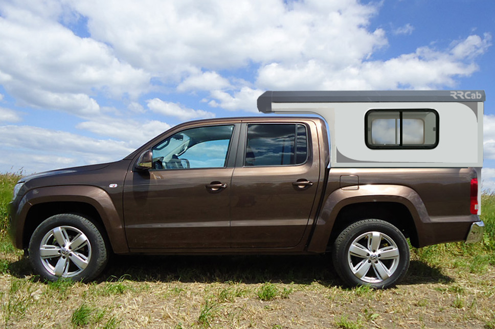 Cellule amovible RRcab sur pick-up VW Amarok double cabine