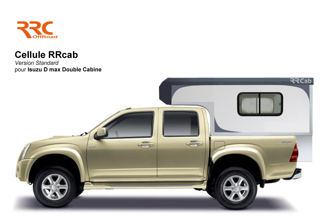 Cellule amovible RRCab sur pick-up Isuzu D max double cabine