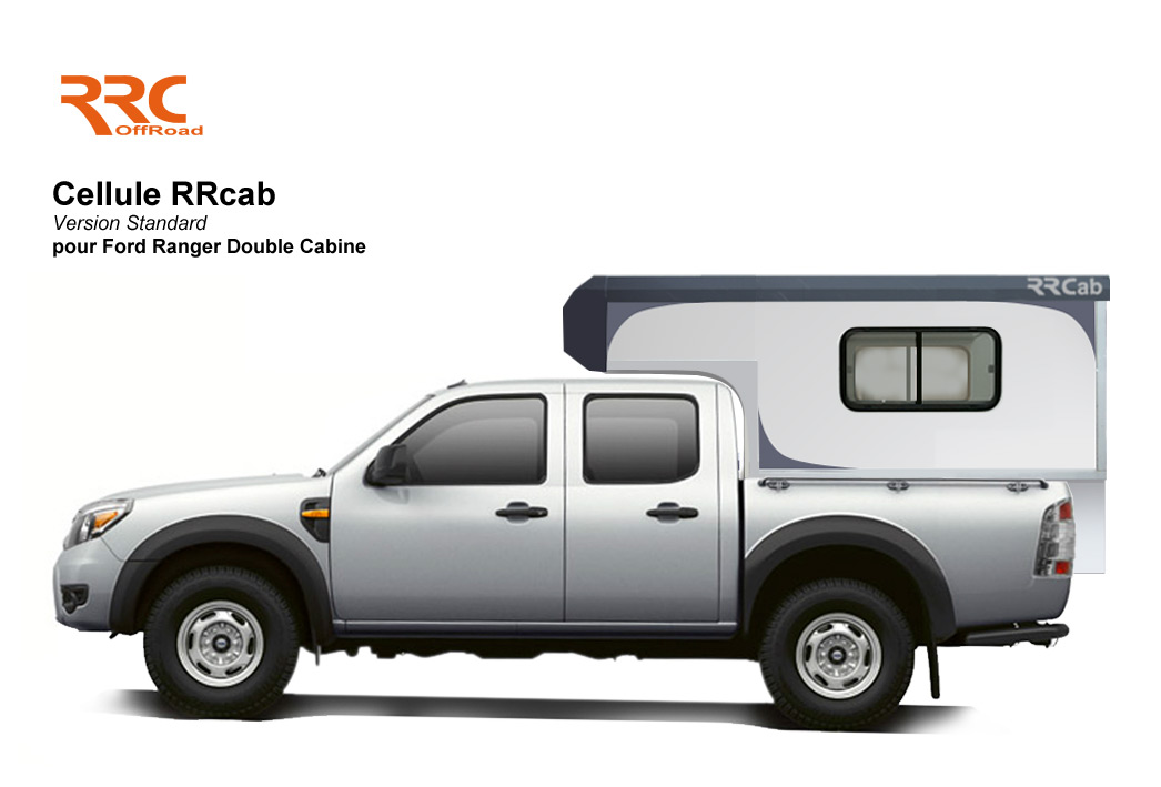 Cellule amovible RRCab sur pick-up Ford Ranger Double Cabine