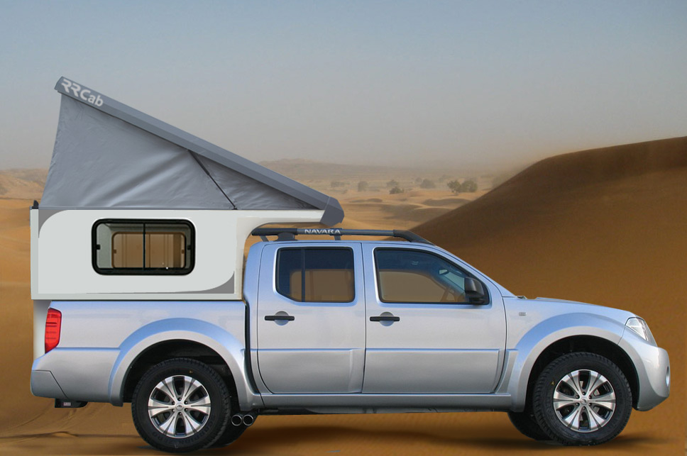 rrcab cellule de camping 4x4 amovible sur pick up nissan. Black Bedroom Furniture Sets. Home Design Ideas