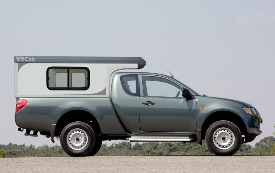 Cellule amovible RRcab sur pick-up Mitsubishi L200 Club Cab
